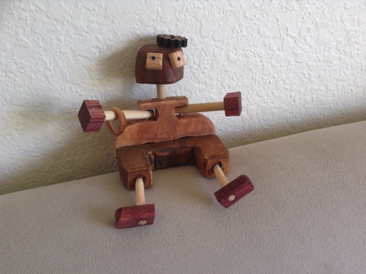 new wooden ragbot